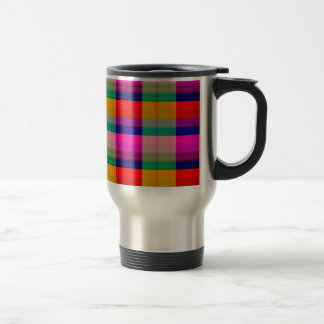 Pink, Red and Green Stainless Steel Travel Mug