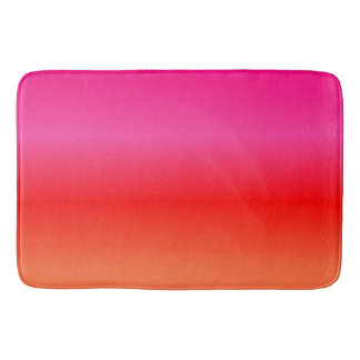 Pink,  Red and Orange Gradient Bath Mat