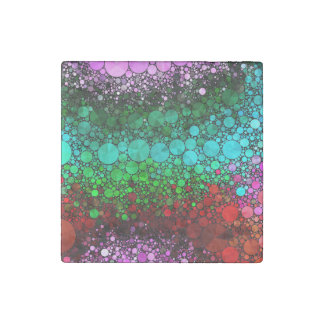 Pink Red Bling Abstract Stone Magnet