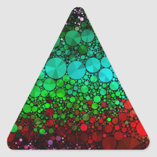 Pink Red Bling Abstract Triangle Sticker