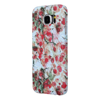 Pink Red Dirty polka Dot Grunge Decay Samsung Galaxy S6 Cases