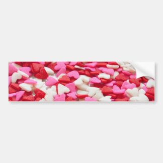 Pink Red Heart Sprinkles Candy Pattern Bumper Sticker