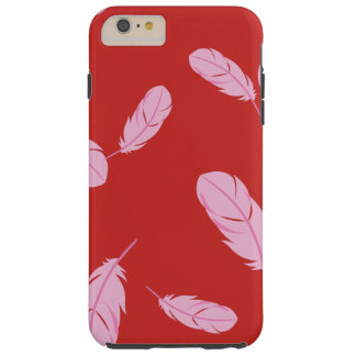 Pink & Red iPhone 6/6s Case - Feathers