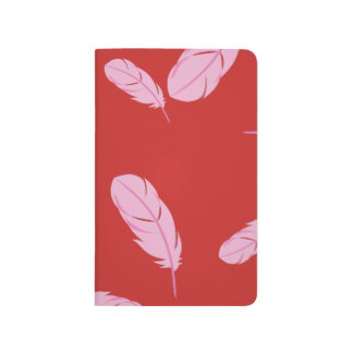 Pink & Red Journal - Feathers - Pocket Size
