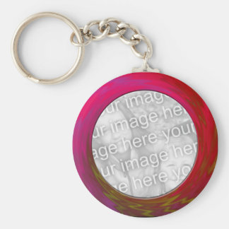 pink red key ring