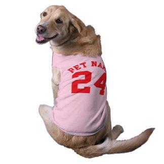 Pink & Red Pets | Sports Jersey Design Sleeveless Dog Shirt