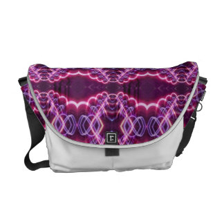 Pink Red Purple Abstract Pattern Courier Bag