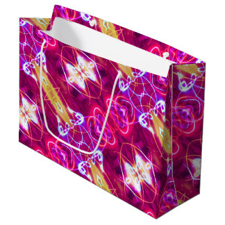 Pink Red Purple Abstract Pattern Large Gift Bag