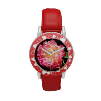 Pink Red Rose Heart Girl s watches Valentines
