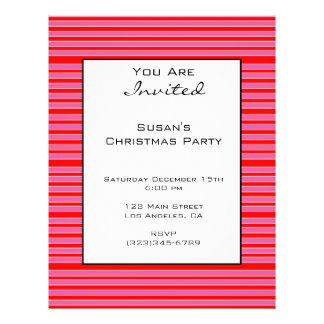 Pink Red Striped Christmas 21.5 Cm X 28 Cm Flyer
