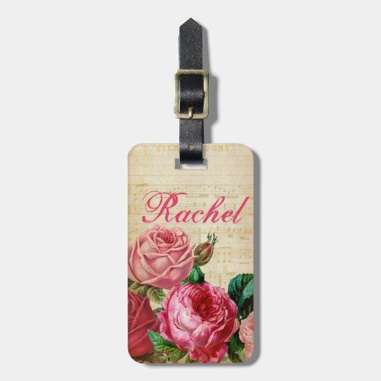 Pink & Red Vintage Roses Floral & Sheet