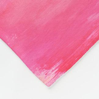 Pink Red & White Tie Dye Fleece Blanket