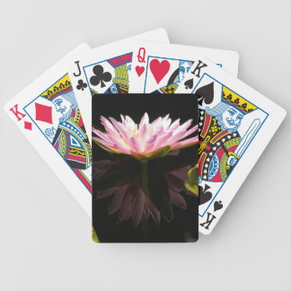 Pink Reflection Lotus Waterlily Playing Cards