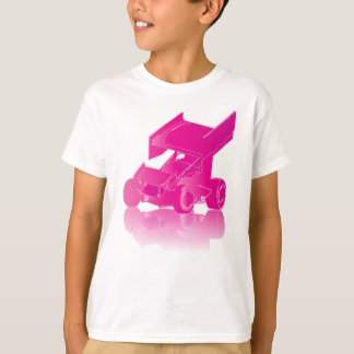 Pink Reflection Winged Sprint Car T-Shirt