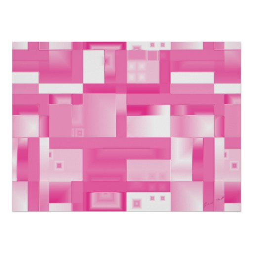 Pink Reflections Abstract Print