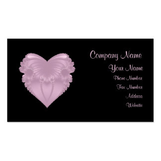 Pink Renaissance Heart Business Card