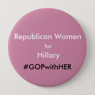 Pink Republican Women for Hillary Large Pin