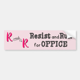 Pink Resist and Run for Office Bumper Sticker