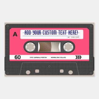 Pink Retro 80s Cassette Tape Personalized Sticker