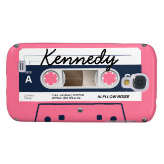 Pink Retro Cassette Tape Galaxy S4 Case