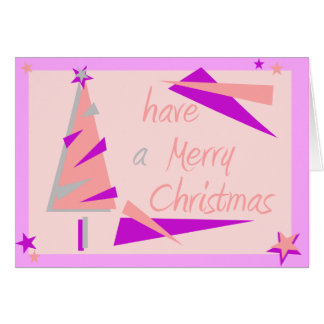 PINK RETRO CHRISTMAS CARD