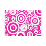 Pink Retro Circles Gallery Wrapped Canvas
