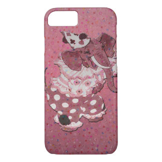 Pink Retro Circus Elephant iPhone 7 Case