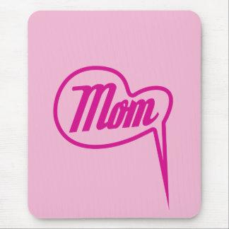 pink retro mom speech bubble mousepad