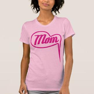 pink retro mom speech bubble t-shirt