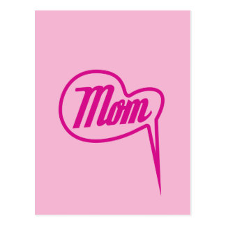 pink retro mother´s day speech bubble postcard