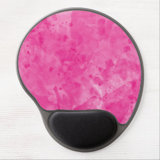 Pink Retro Paint Splatter Gel Mouse Pad