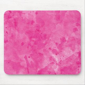 Pink Retro Paint Splatter Mousepad
