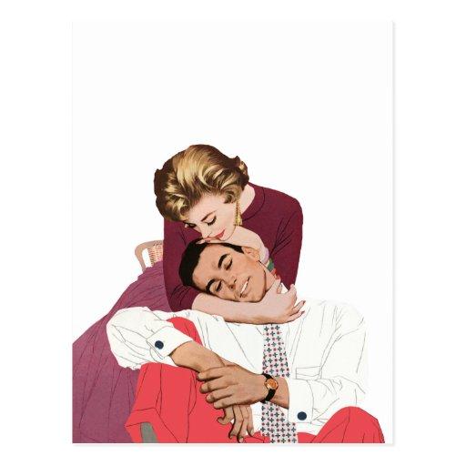Pink Retro Romance, Vintage Romantic Love Postcards