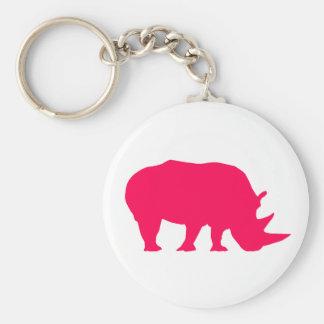Pink Rhino Key Ring