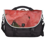pink rhododendron flowers commuter bag