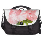 pink rhododendron flowers laptop bag