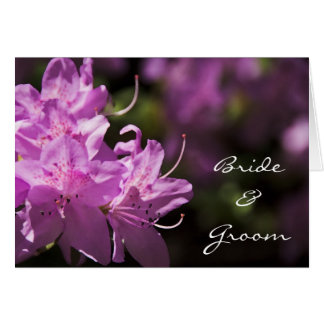 Pink Rhododendron Flowers Wedding Invitation