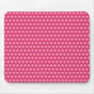 Pink rhomb mouse pad