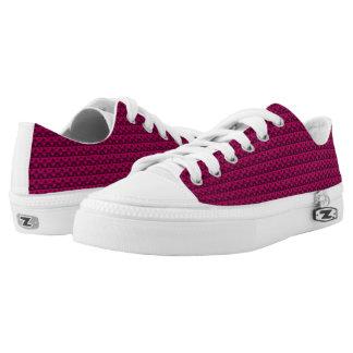 Pink Rhombus™ M/W Low Top Printed Shoes