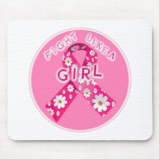 pink ribbon 1 mouse pad