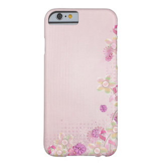 Pink Ribbon and flowers Barely There iPhone 6 Case