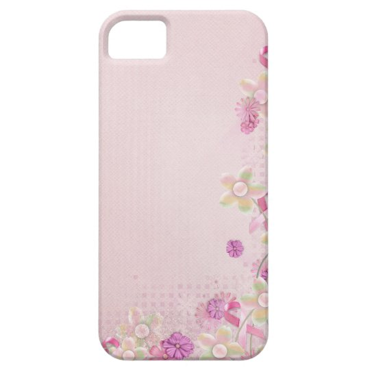 Pink Ribbon and flowers iPhone 5 Case