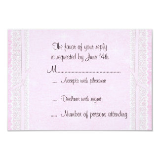 Pink Ribbon and Lace RSVP Response Card