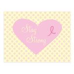 Pink Ribbon Awareness Stay Strong Postcard