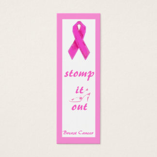 Pink Ribbon Bookmark for Breast Cancer Mini Business Card