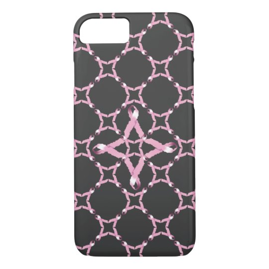 Pink Ribbon Breast Cancer Awareness iPhone 8/7 Case
