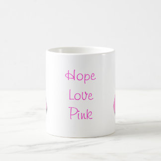 Pink Ribbon Breast Cancer Awareness Classic White Coffee Mug