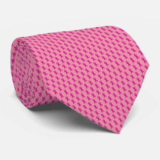 Pink Ribbon Breast Cancer Awareness Neck Tie