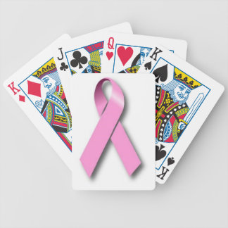 Pink Ribbon Breast Cancer Awareness Bicycle Playing Cards