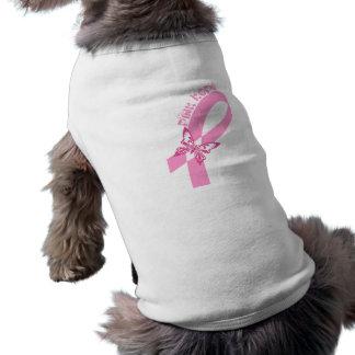 Pink Ribbon Breast cancer awareness Sleeveless Dog Shirt